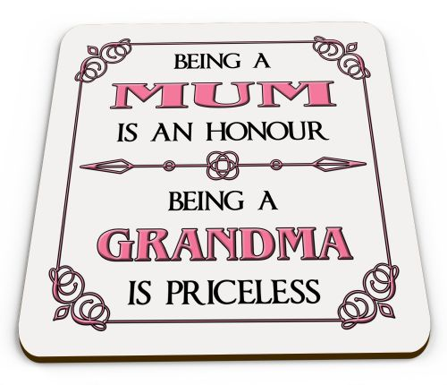 Being A... Is An Honour Being A... Is Priceless Novelty Glossy Mug Coaster - Pink